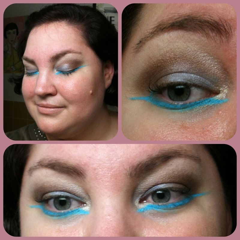Native American Inspired Eye Look Turquoise And Soft Brown Anna S